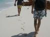 Опитайте по следите от стъпките да усетите пясъка