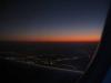 Изгрев над Абу Даби при кацане